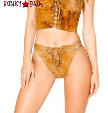 J. Valentine | Lace up Bottom Rave Wear JV-FF198 color rusty