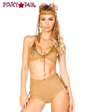 J. Valentine | Beaded Tri Top Rave Wear JV-FF191 color honey