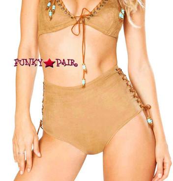 J. Valentine | Faux Suede Shorts Rave Wear JV-FF192 color honey