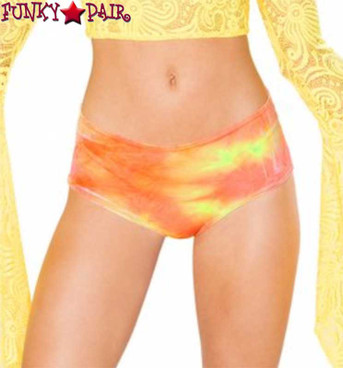 J Valentine | Velvet Shorts Rave Wear JV-FF117 Color Sun Orange