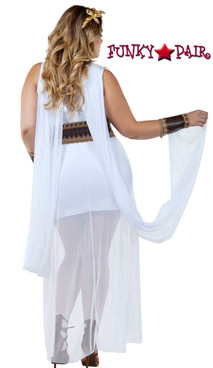 Starline Costume | S8024X, Plus Size Golden Goddess Back View