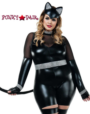 Starline Costume | S8025X, Plus Size Cat Burglar Front View