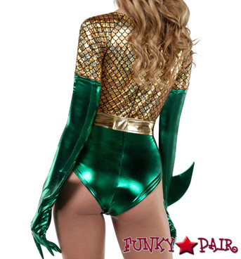 Starline | S8033, Atlantis Queen Romper Costume Back View