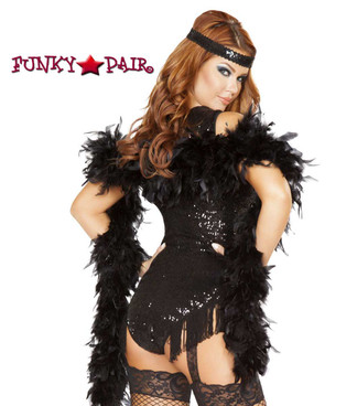 Roma | R-4748, 1920'S Party Flapper Romper Costume  close up back view