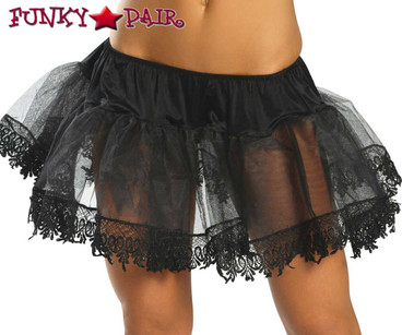 Black Tear Drop Trimmed Petticoat Roma Costume R-2210