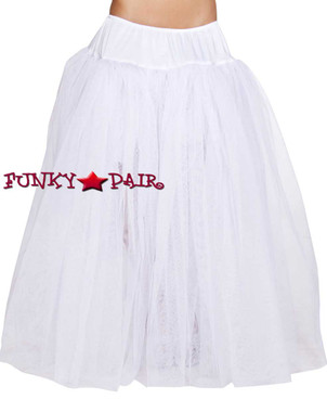 Full Length White Petticoat Roma Costume R-4554