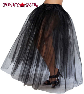 Long Black Petticoat Roma Costume R-10039