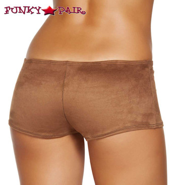 Brown Suede Boyshorts Roma Costume | R-SH224