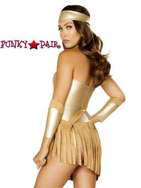 Roma | R-4848, Golden Goddess Romper Costume back view
