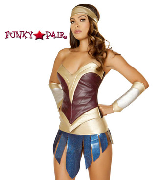 Roma Costume | R-4850, American Heroine close up view