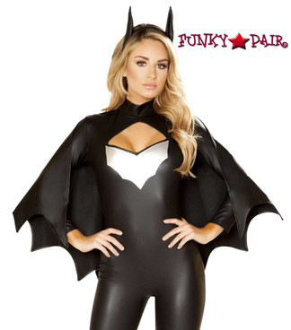 Sexy Bat Crusader Roma Costume | R-4853 close up view