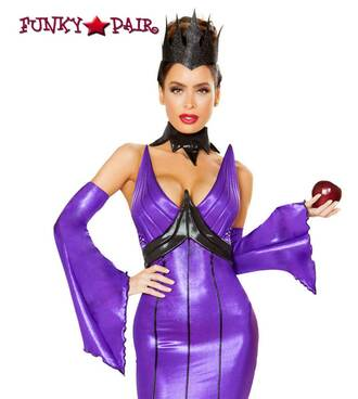 Wicked Queen Roma Costume   R-4786 close up view