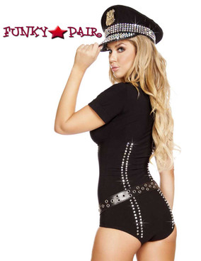 Roma | R-4586, Lusty Law Enforcer Romper Costume back view