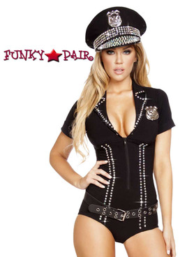 Lusty Law Enforcer Romper Roma Costume R-4586