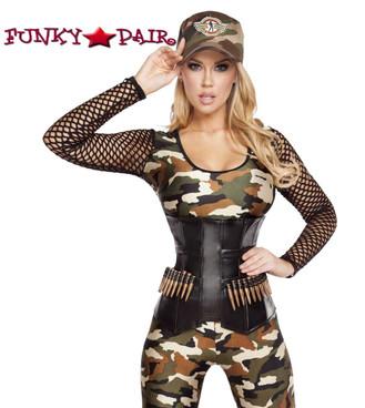 Lusty Lieutenant Military Jumpsuit Roma Costume | R-4592