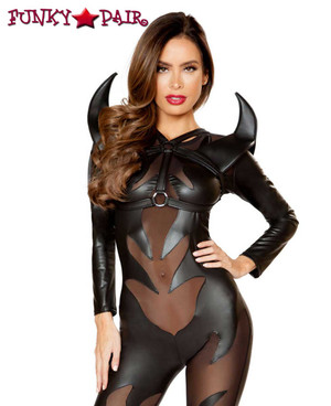 Women's Evil Devil Roma Costume | R-4812 with 4811 - HORN HOLSTER