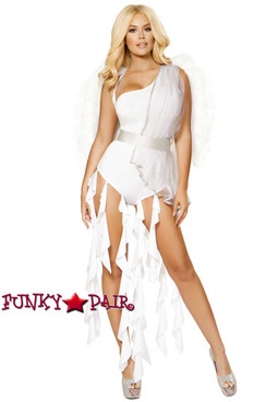 Roma | R-4871, Angel Goddess Romper Costume full front view