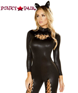 Women's Cat Prowler Jumpsuit Roma Costume | R-4875