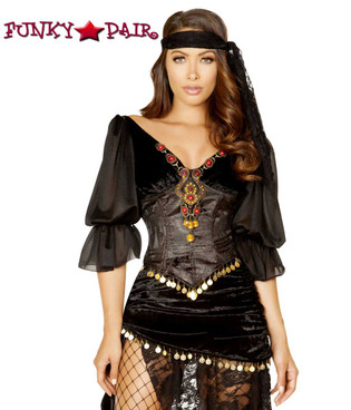 Gypsy Maiden Roma Costume | R-4880 close up view