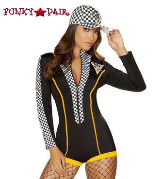 Roma | R-4887, Race Car Diva Romper Costume close up view