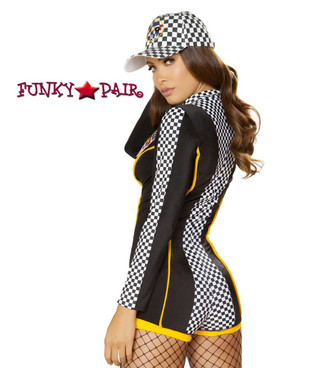 Roma | R-4887, Race Car Diva Romper Costume back view