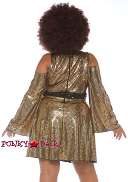 Plus Size Disco Diva Costume | Leg Avenue LA-86780X back view