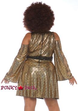 Plus Size Disco Diva Costume | Leg Avenue LA-86780X back view