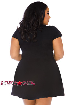 Plus Size Undead Jersey Dress Costume | Leg Avenue LA-86770X back view