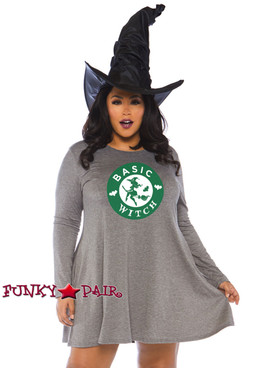 Plus Size Witch Jersey Dress Costume | Leg Avenue LA-86767X