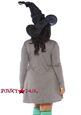 Plus Size Witch Jersey Dress Costume | Leg Avenue LA-86767X back view