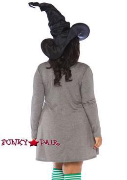 Plus Size Witch Jersey Dress Costume | Leg Avenue LA-86767X back view