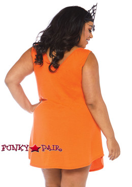 Plus Size Halloqueen Jersey Dress Costume | Leg Avenue LA-86766X back view