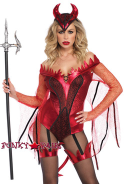 Dazzling Red Devil Costume | Leg Avenue LA-86733