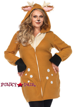 Plus Size Cozy Fawn Women's Costume | Leg Avenue LA-85587X