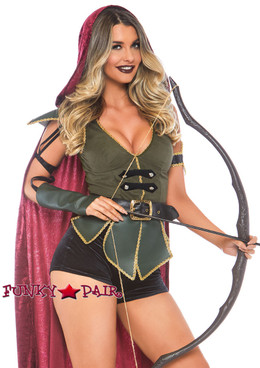 Leg Avenue | LA-86781, Ravishing Robin Hood Costume close up view
