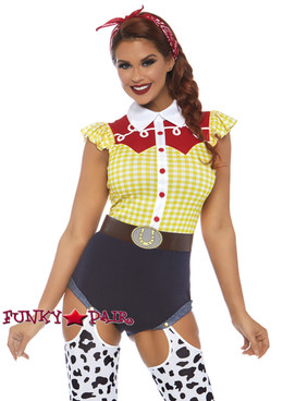 Leg Avenue | LA-86777, Giddy Up Cowgirl Romper Costume
