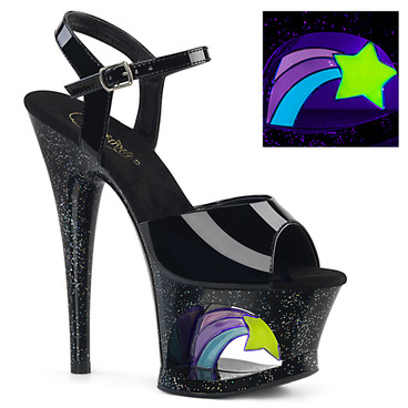 Moon-709RSS, Shooting Star Platform Ankle Strap Sandal stripper shoes
