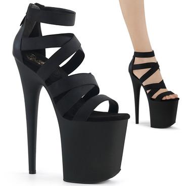 Flamingo-859, Criss Cross Straps Platform Sandal Stripper Shoes