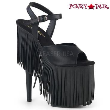 Pleaser Shoes| Flamingo-809FRG, Fringe Platform Sandal