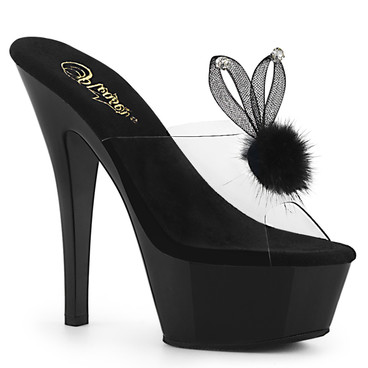 Kiss-201BUNNY, Platform Slide with Bunny Ear Stripper Shoes