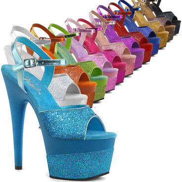Stripper Shoes Adore-709-2G, Glitter Platform Sandal