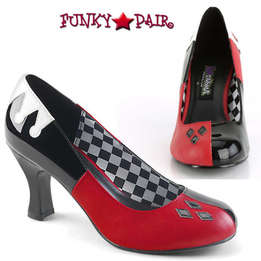 Harley-42,  Quinn Jester Cosplay Pump | Funtasma Costume Shoes
