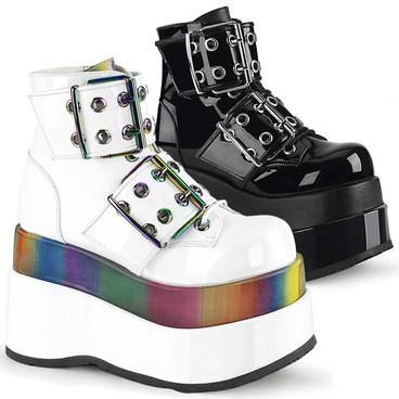 Bear-104 Women's Raver Platform Ankle Boots by Demonia