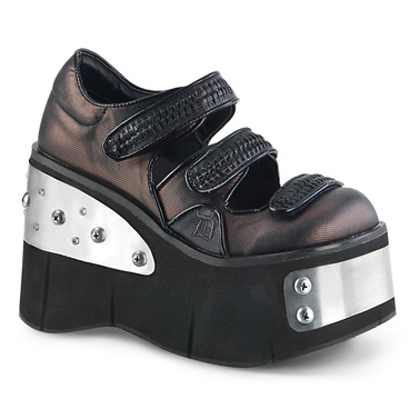 Metal Plate Platform Maryjane Demonia Shoes Kera-13