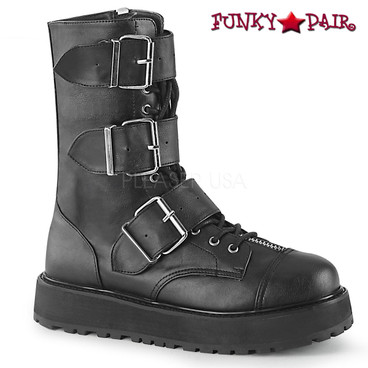 Men's Demonia | Valor-210, Mid-Calf Boots with Buckles