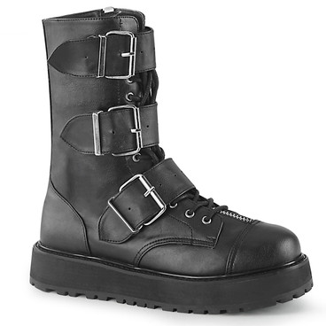 Valor-210, Mid-Calf Boots with Buckles Men's Demonia |