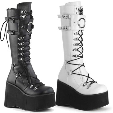 Gothic Platform Lace-up Knee High Boots Demonia Kera-200
