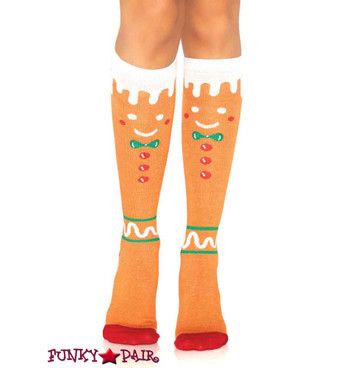 Gingerbread Knee High Socks | Leg Avenue LA5611