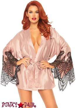 Short Satin Robe | Leg Avenue LA86105
