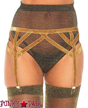 Leg Avenue | LA8887, Shimmer Garterbelt color Gold